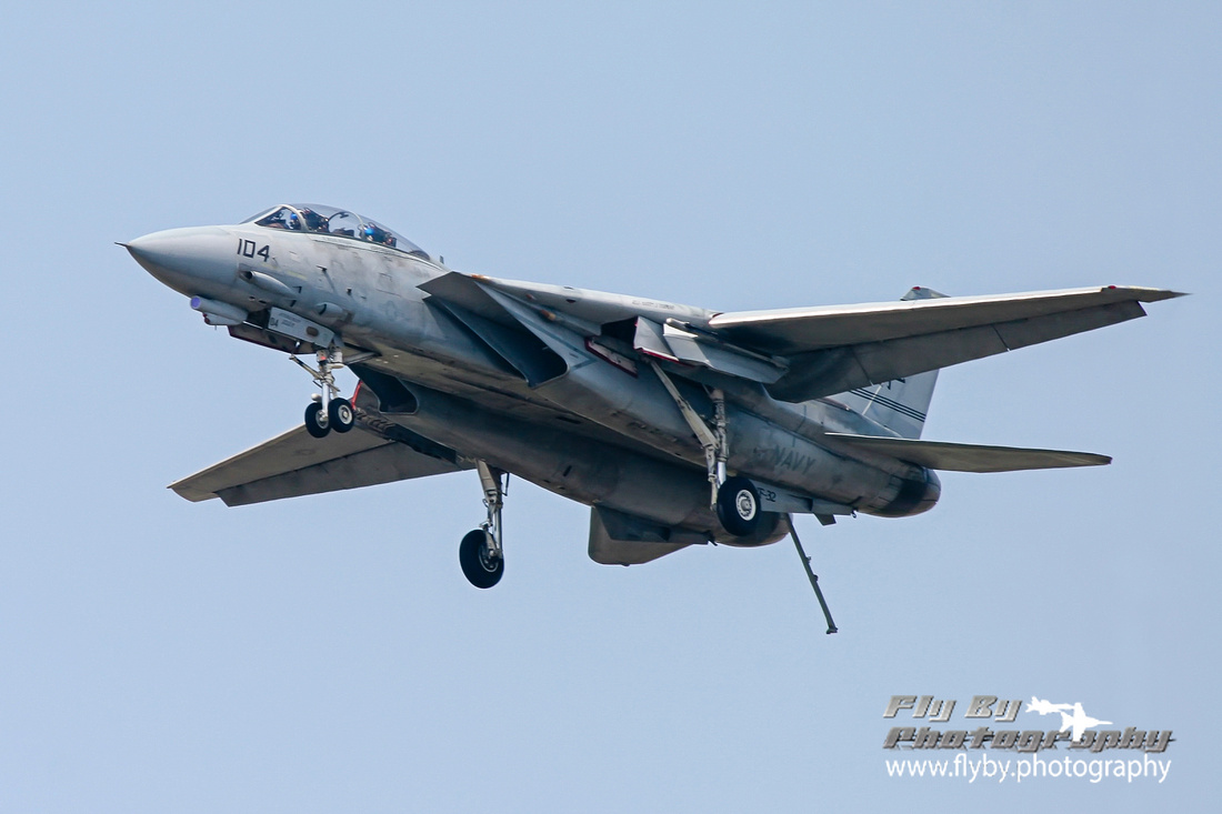 F-14 Tomcat in the carrier landing configuration.