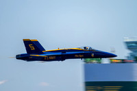 Blue Angels lead solo, Lt C J Simonsen performs the sneak pass over the Chesapeake Bay.