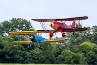 John Corradi leads the rest of the Flying Circus up for the show.