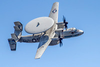 US Navy E-2D Hawkeye (Hummer) airborne control aircraft of VAW-126 Seahawks flies over Ft. McHenry, Md