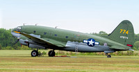 Curtis C-46F Commando, Tinker Belle waits out the rain.