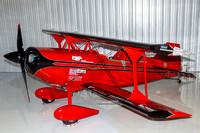 Clemens Kuhlig's Pitts tucked into a hangar for safe keeping before the Culpeper Air Fest.