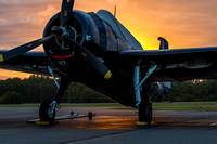 Doris Mae, the CAF Capital Wing's TBM Avenger, photographed on a mostly cloudy Wednesday morning.