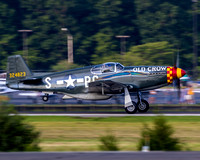 Old Crow, piloted by Paul Draper, accelerating on Manassas Regional Airports runway 16L.