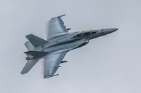 "F-18F Super Hornet of VFA-32 Swordsman ""Gypsy"" during the air power demo at NAS Oceana airshow 2011."