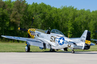 The Military Aviation Museum's P-51 Mustang painted in the colors of the 352nd Fighter Squadron's CO, Lt Col. William F Bailey.