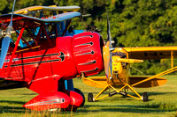 Red Waco, Green grass, Blue Stearman and even an additive color, the Yellow Cub.