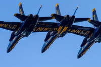 A view into the Blue Angels Diamond Formation.