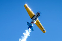 Kevin Russo climbing in his SNJ-6 Texan.