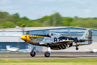 P-51D Mustang, Bald Eagle on its take-off roll at Manassas Airport.