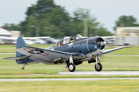 The Commemorative Air Force's Douglas SBD-5 Dauntless dive bomber.