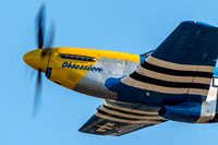 "P-51D Mustang ""Obsession"" blows past the crowd at Warbirds Over Monroe."