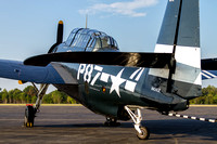 Doris Mae, the CAF Capital Wing's TBM Avenger on the Leesburg Airport ramp, ready for an afternoon of flying.