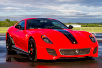 A 661 horsepower Ferrari 599 GTO on display at the Manassas Airshow.