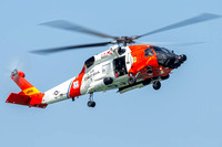 MH-60T Jayhawk of the US Coast Guard stationed at Air Station Elizabeth City, North Carolina, performs a Search And Rescue demonstration.
