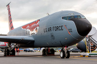 "The 141st Air Refueling Squadron ""Tigers"", New Jersey Air National Guard's KC-135 in special tiger markings for the unit's 100th Anniversary, on static display at the Northeastern Pennsylvania Airshow"