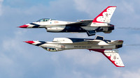The Thunderbirds' solos perform the Calypso Pass
