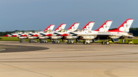 The Thunderbirds on the ramp on Sunday morning for the Thunder Over Dover airshow.