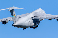 A C-5 Super Galaxy lifts off in preparation for its flight demonstration at the Thunder Over Dover Air Show.
