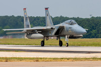 F-15C Eagle of the 71st FS returns to the ramp at Langley AFB.