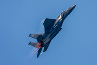 The F-15E Strike Eagle accelerating vertically.