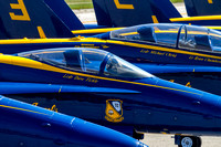 Blue Angels F-18 Hornets, ready for action.