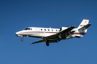 Cessna Citation C560XL Landing At Dulles Airport