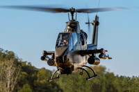 One of the Army Aviation Heritage Foundation's AH-1F Cobra gunships takes flight at Warbirds Over Monroe.