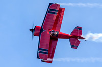 Clemens Kuhlig rolls his Pitts as he passes the crowd line at Warbirds Over Monroe.