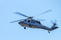A US Navy MH-60S Knighthawk helicopter of HSC-9 Tridents flying over Ft. McHenry, Baltimore, Md.