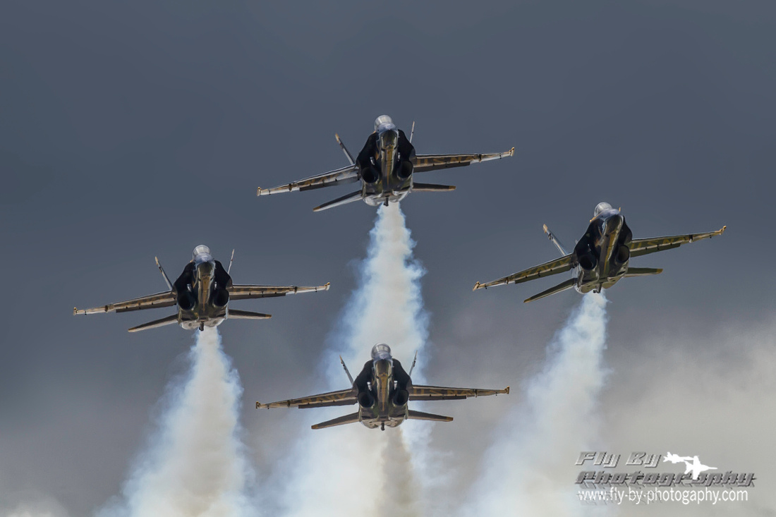 Dark skies for the Blue Angels