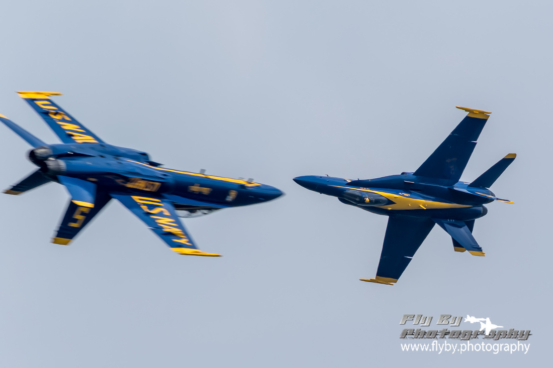 Lt. Ryan Chamberlain #5, Lead Solo and Capt. Jeff Kuss #6, Opposing Solo a split second from merging during an opposing pass.