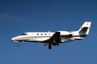 Cessna Citation On Final to Dulles