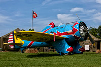 A Boeing P-26 Peashooter at Warbirds Over the Beach. The P-26 was a pre-World War II, U S Army Air Corps fighter plane.