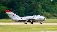 The Mig-17 returns to Langley AFB.