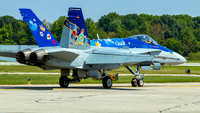 Royal Canadian Air Force CF-18 Demo Team, celebrating the 90th anniversary of the formation of the RCAF.