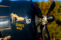 "The CAF Capital Wing's TBM Avenger ""Doris Mae"" soaking up the morning sun on a fall day at Warbirds Over Monroe."