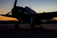 "The Commemorative Air Force Capital Wing's TBM Avenger ""Doris Mae"" photographed on the ramp before sun up."